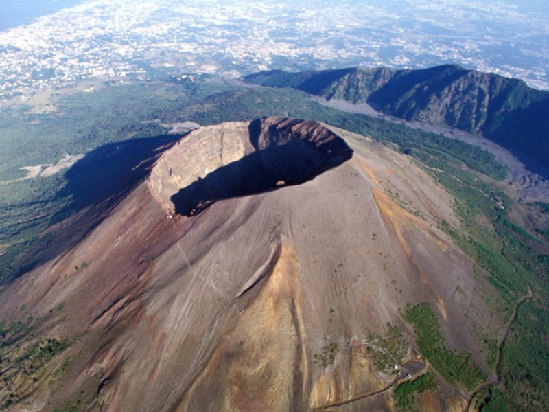 THE CRATER OF VESUVIUS GOLD